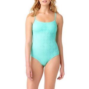Catalina | Geo Crochet One Piece Swimsuit Large